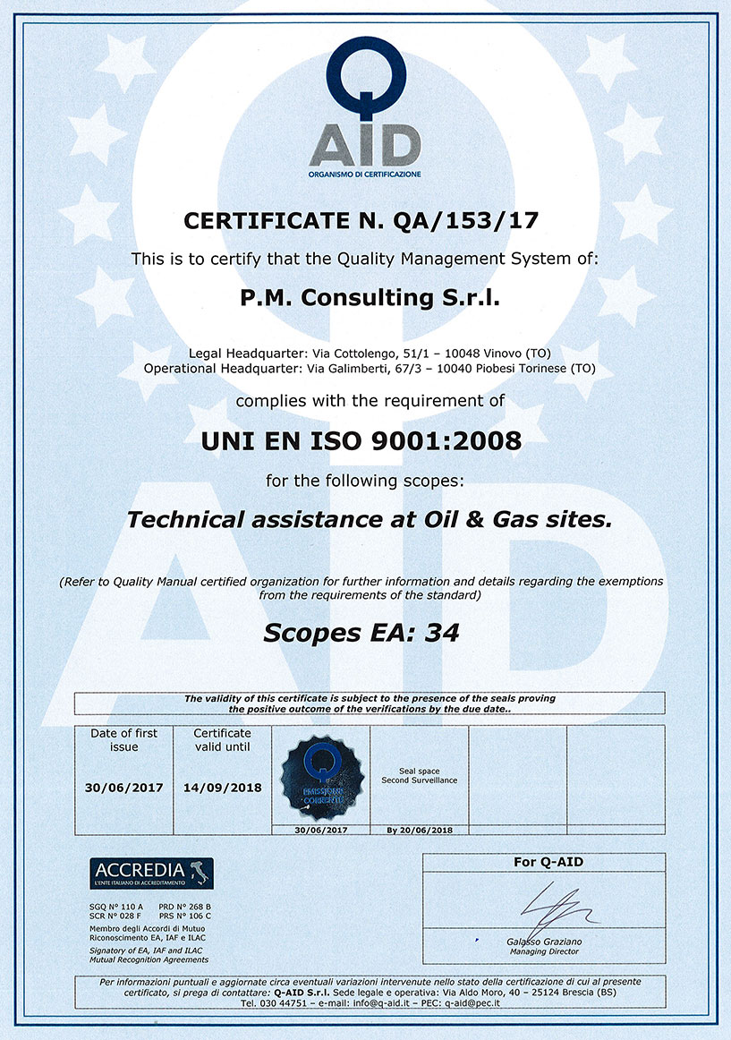 Pm consulting certifications pm consulting has acquired the uni en iso 9001 2008 and is implementing the uni en iso 9001 2015 certification 1betcityfo Gallery
